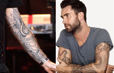 maroon 5 tattoo adam levine tattoos and house