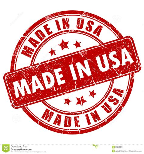 Made In by Made In Usa St Stock Vector Illustration Of St
