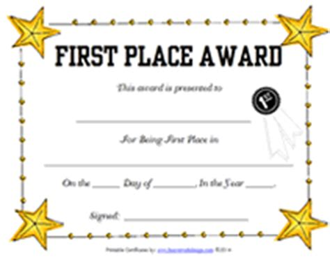 1st place certificate template printable certificates your certificate template can be blank