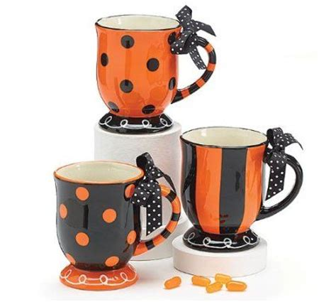 halloween coffee drinks amazon com halloween polka dot stripe coffee tea drink