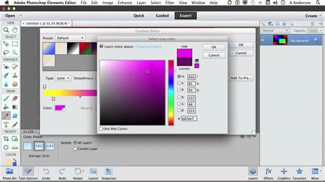 tutorial photoshop elements 11 photoshop elements 11 tutorial working with gradients
