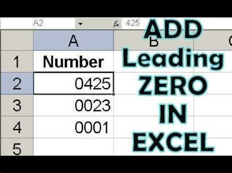 java pattern leading zeros how to keep leading zeros on left in excel 2010 video