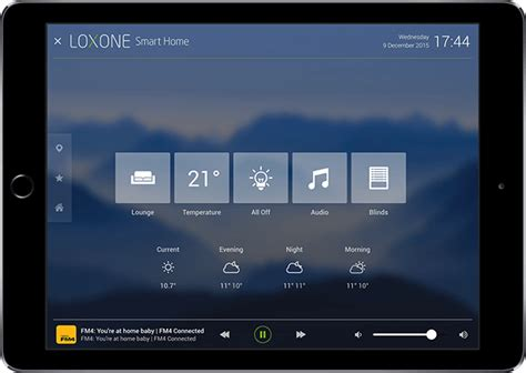 home outside design ipad app loxone smart home app 6 with new room mode is released