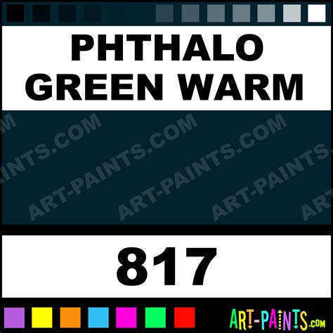 warm green paint colors phthalo green warm artists extra fine oil paints 817