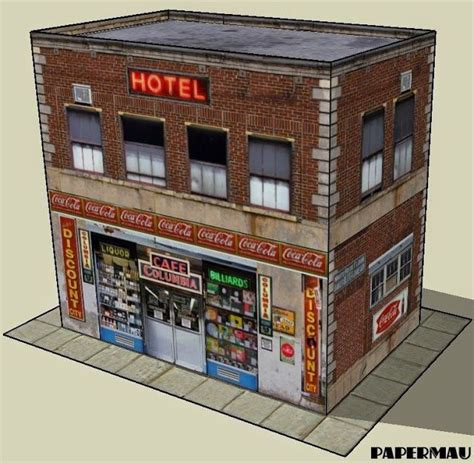 Papercraft Cafe - 185 best images about diorama templates on