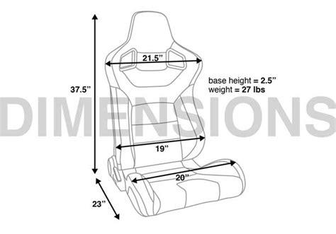 corbeau sport seat dimensions corbeau sportline rrb reclining seat pair harrison
