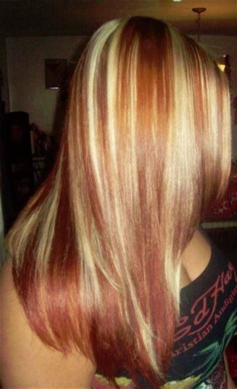 hairstyles copper highlights 12 beautiful blonde hairstyles with red highlights red