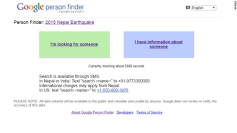 Gmail Finder And Help Locate Nepal Survivors Apr 27 2015