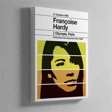 francoise hardy poster francoise hardy remixed gig poster by the stereo typist