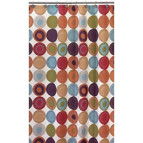 multi colored shower curtains dot swirl 13 piece shower curtain with bonus coordinating