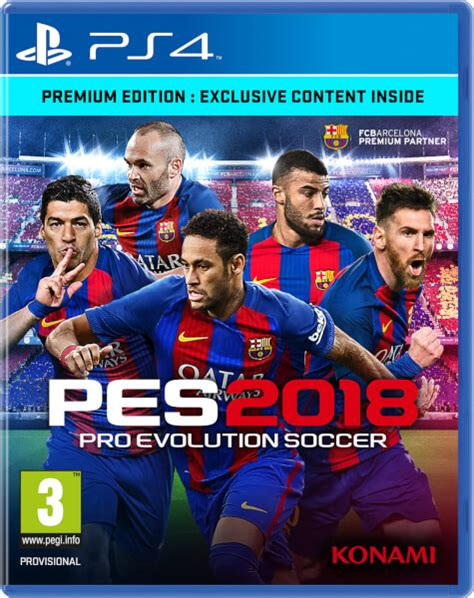Bluray Ps4 Pes 2018 pes 2018 premium edition ps4 zavvi