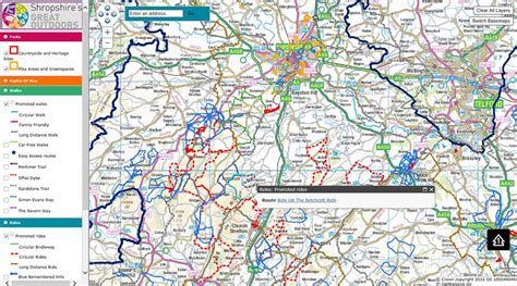 map uk interactive interactive map shropshire s great outdoors
