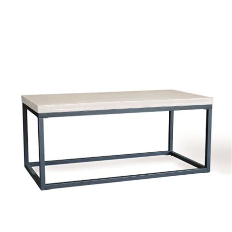 Slab Box Frame Coffee Table Rectangle West Elm West Elm Framed Desk