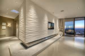 wave accent wall tile with fireplace window wall