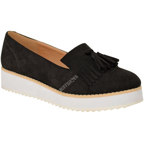 womens smart flat shoes womens loafers flat shoes chunky cleated sole