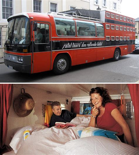 bus with beds rotel tours hotel bus feature beds private rooms
