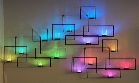 Purple accent wall ideas, wall decoration with led lights wall decor. Interior designs Mytechref.com