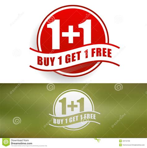 where to buy one buy one get one free stock vector image 43112756