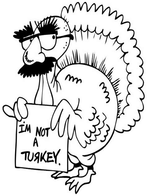 coloring pages thanksgiving turkey free printable funny coloring pages for kids