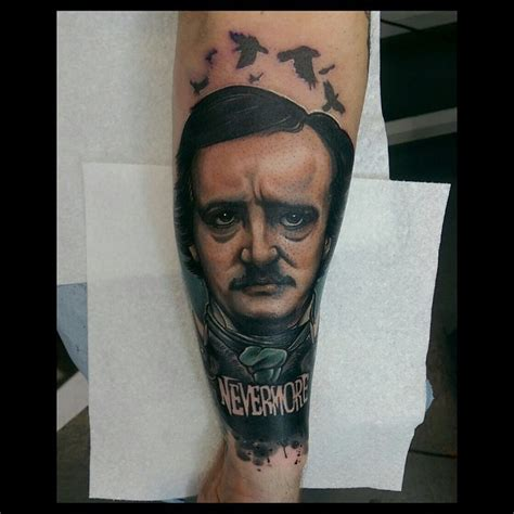 nevermore tattoo allan poe nevermore by jethro wood best