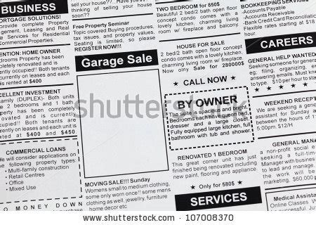 Garage Sale Classified Ad classified ads stock photos images pictures