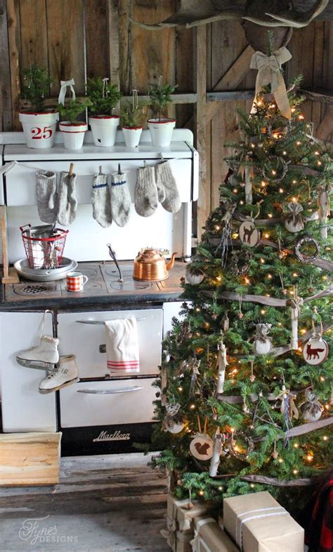 rustic natural cabin chic christmas style series the