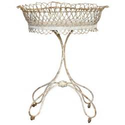 Pedestal Jewelry Holder Antique Oval Plant Stand In Wrought Iron