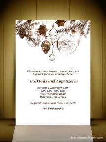 Christmas Invitation Card Template Vintage Style Christmas Party Invitation Card Wedding