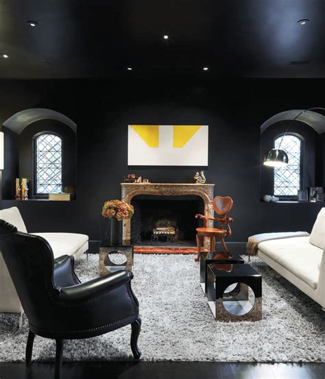 black painted rooms dramatic black ideas for painting a living room ifresh