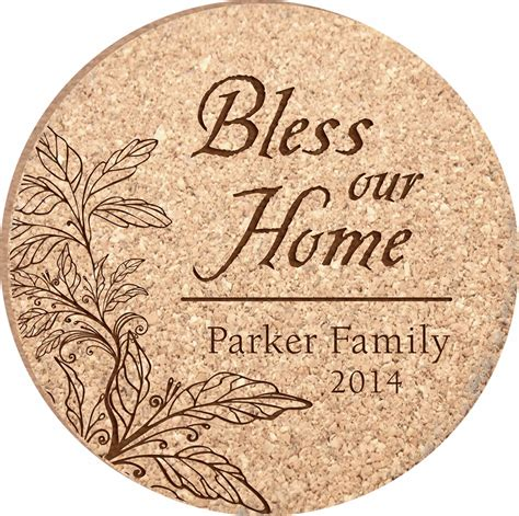 unique drink coasters personalized bless our home cork drink coaster set coasters