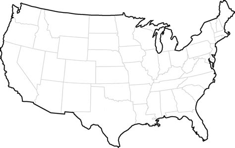 United States Map Template maps united states map outline