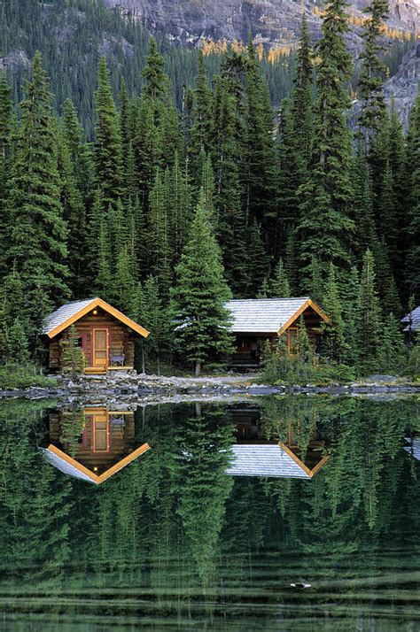 Cabins In National Park by Cabins In Yoho National Park Photograph By Watts