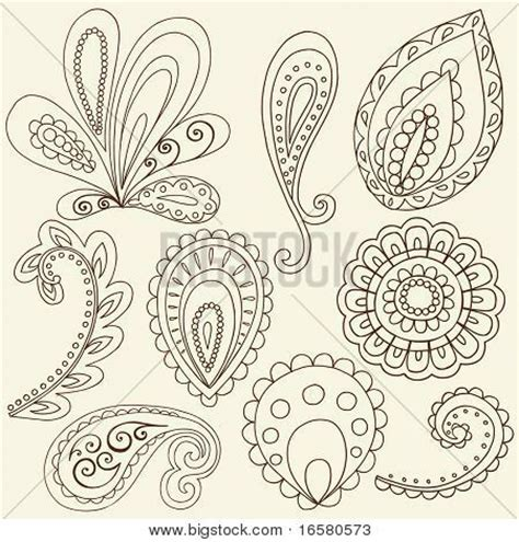 Paisley Pattern Drawing | how to draw paisley hand drawn abstract henna paisley