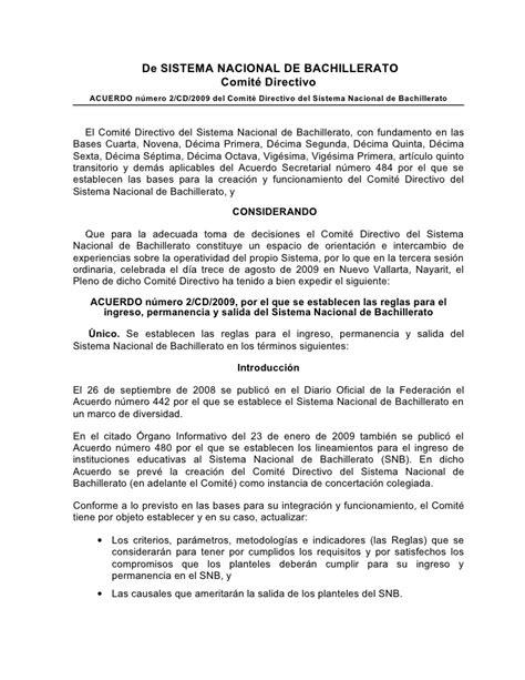 acuerdo nmero 020516 por el que se establecen los acuerdo 2 cd 2009 por el que se establecen las reglas