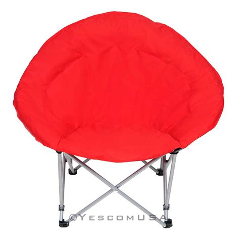Moon Chair Microsuede Folding Padded Saucer Moon Chair Lagre