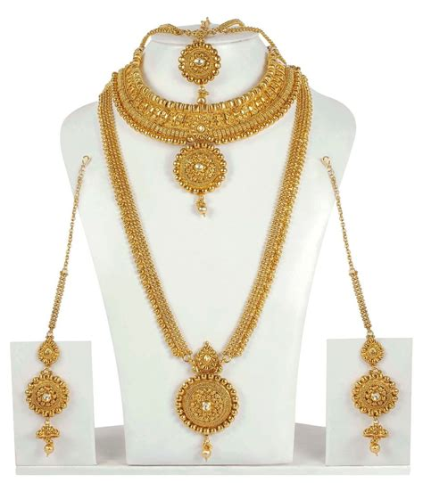 Gold Fashion by 4056 Indian Bridal Jewelry New Necklace Ethnic