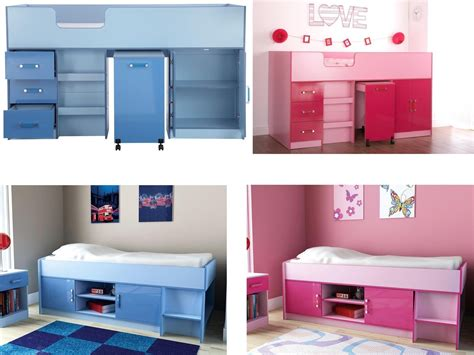 caspian gloss bedroom furniture midsleeper or cabin bed