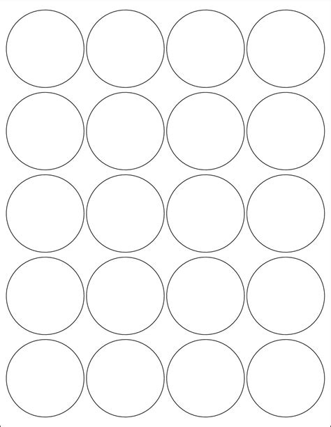 Round Label Template Circle Sticker Labels Template