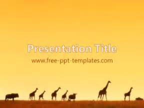 africa powerpoint template 15 powerpoint templates images animals