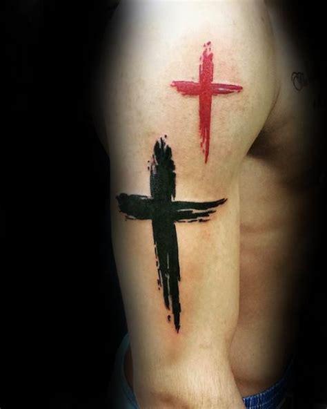 50 simple cross tattoos for men religious ink design ideas