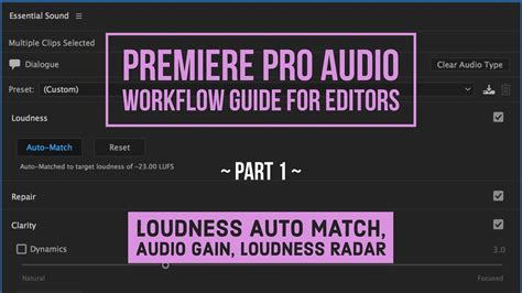 premiere pro workflow premiere pro audio workflow guide for editors part 2
