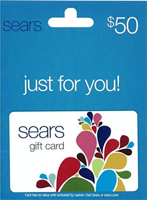 Buy Sears Gift Card Online - sears fashion 50 gift card arts entertainment party celebration giving cards certificates