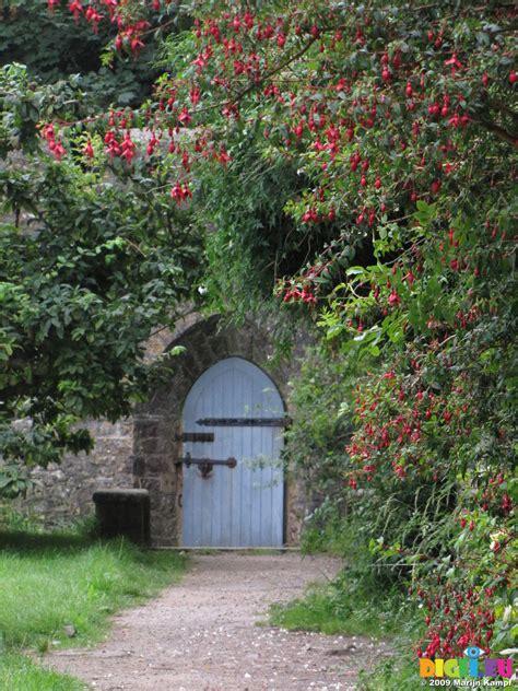 Picture Sx08056 Blue Wooden Door Of Dunraven Walled Garden Barleywood Walled Garden