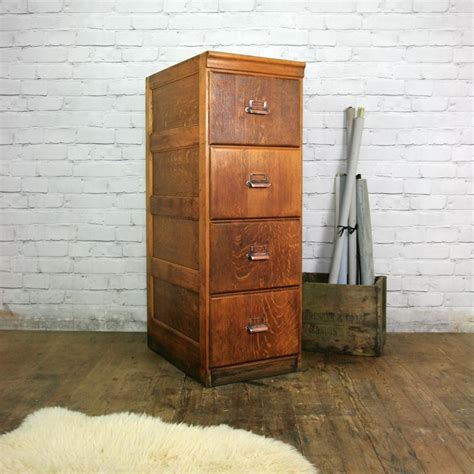 Oak Filing Cabinet 4 Drawer Edwardian Oak 4 Drawer Filing Cabinet Mustard Vintage