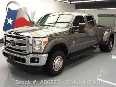 ford f 350 diesel dually ford f 350 crew 4x4 diesel dually long bed 2014 37k mi at