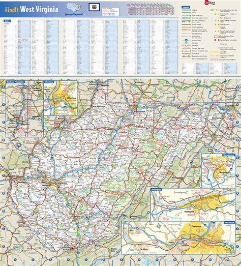 west virginia state map west virginia state wall map by globe turner