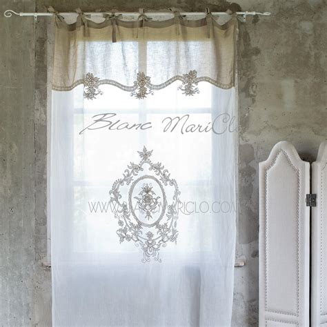tendaggi shabby chic blanc mariclo follie shop shabby chic