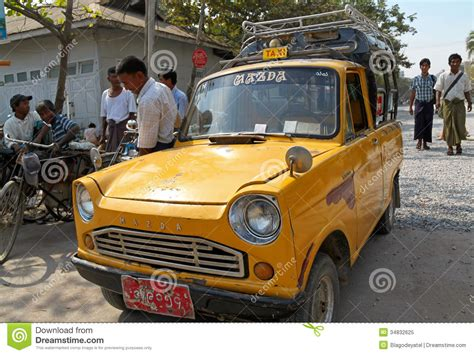 uing mazda cars retro taxi editorial image image 34832625