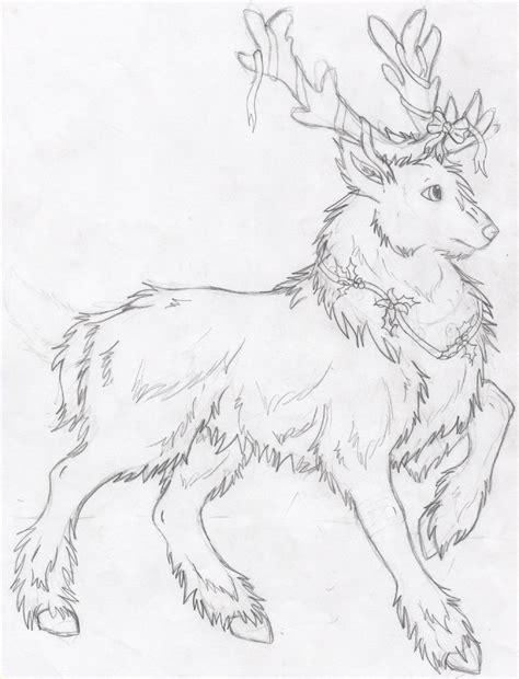doodle draw reindeer reindeer attempt by drawingmaster1 on deviantart