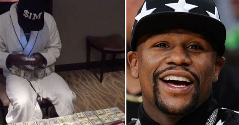 mayweather money floyd mayweather takes flaunting money to whole new level